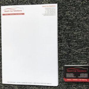 Briefpapier en visitekaartje